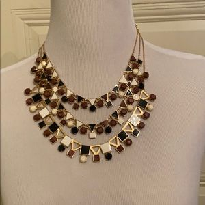 Kate Spade multi-tiered necklace in neutrals